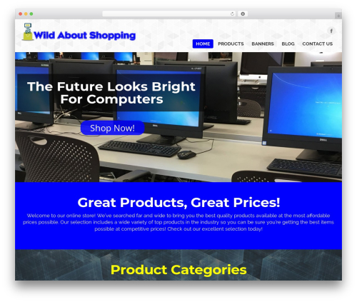 WordPress theme MX - wildaboutshopping.com