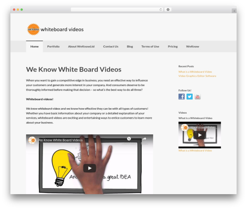 WordPress oh-youtube-in-lightbox plugin - weknowwhiteboardvideos.com