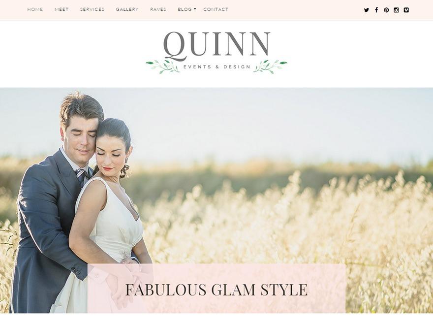 WordPress theme Quinn