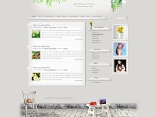 WordPress website template warm-home