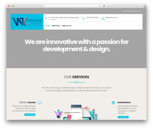 WP template EasyWeb - weions.com