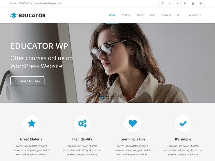 WP template Educator