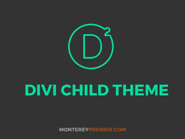 WP theme Divi Child By Monterey Premier