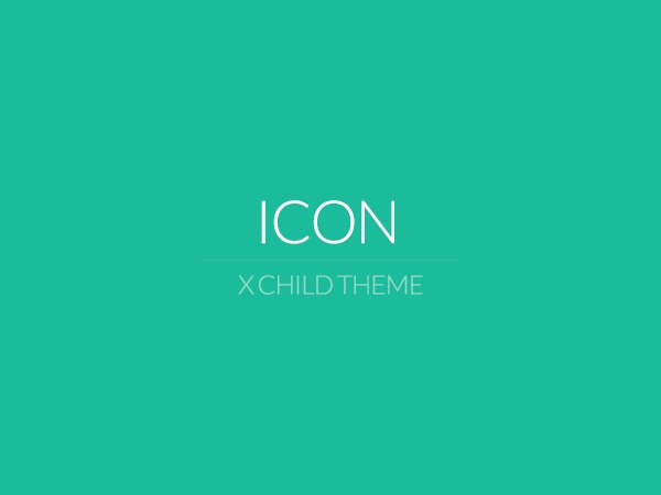 X - Child Theme: Icon WordPress template