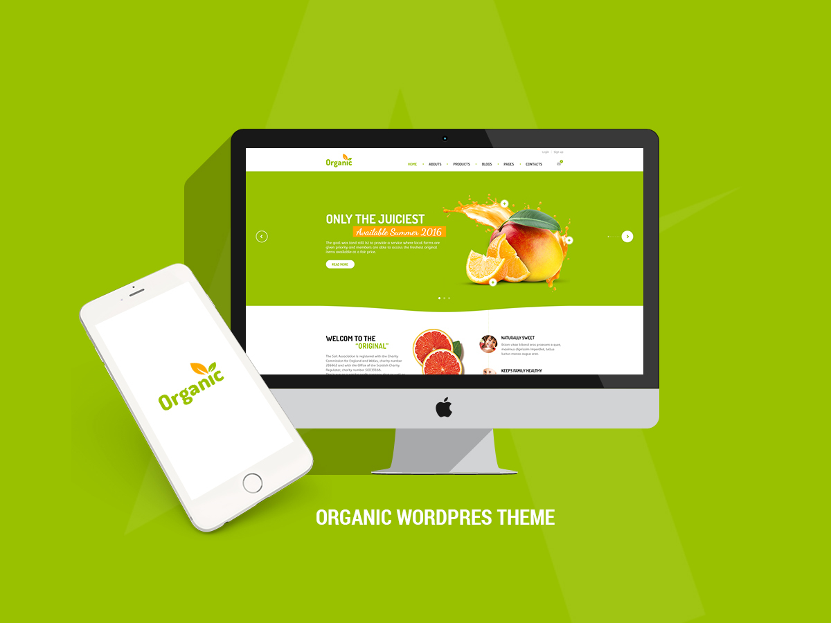 Amy Organic WordPress template