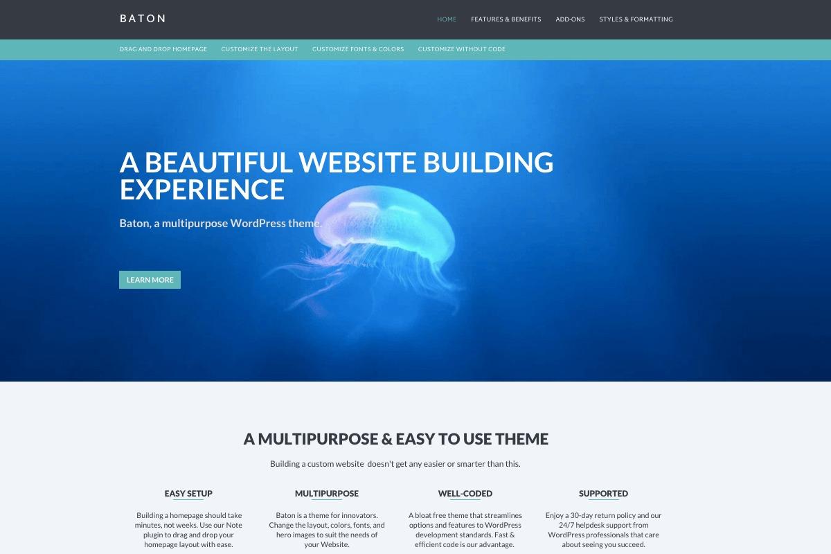 Baton Pro WordPress ecommerce theme