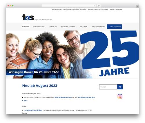 Best WordPress theme LMS Child - tas-koeln.de