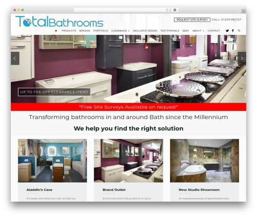 Free WordPress PickPlugins Product Slider for WooCommerce plugin - totalbathrooms.co.uk
