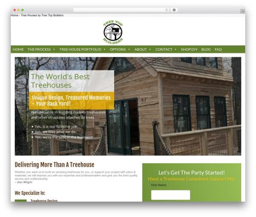 Catalyst WordPress theme design - treetopbuilders.net