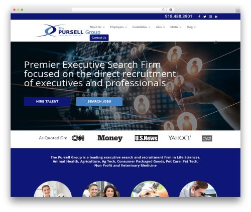 Divi WordPress template for business - thepursellgroup.com