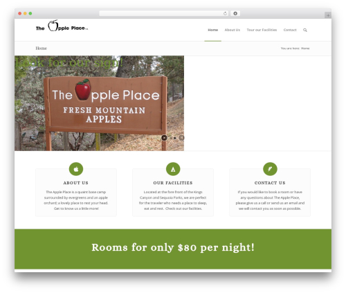 Enfold WordPress template - the-appleplace.com