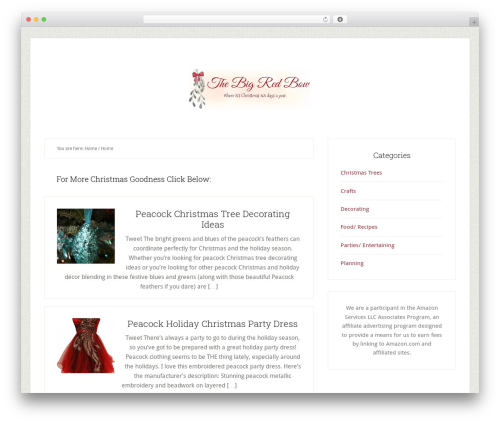 Genesis template WordPress - the-big-red-bow.com