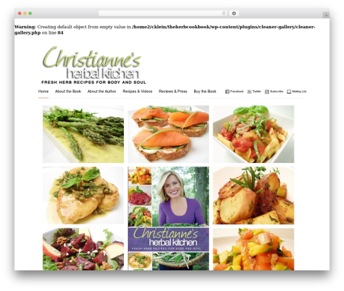 Imbalance WordPress theme design - theherbcookbook.com