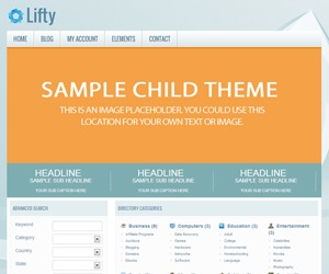 Lifty - PremiumPress Child Theme WP theme