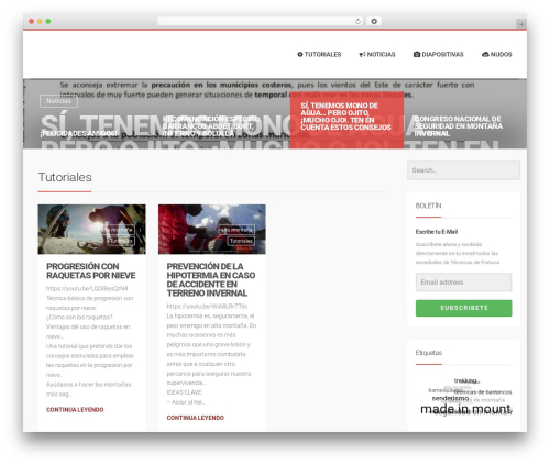 LiteMag by Bluthemes WordPress theme - tecnicasdefortuna.es