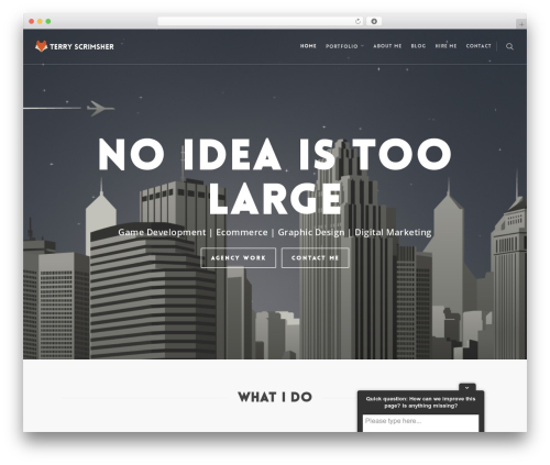 Salient WordPress website template - terryscrimsher.com