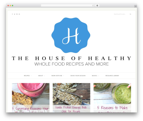 Sprout & Spoon template WordPress - thehouseofhealthy.com