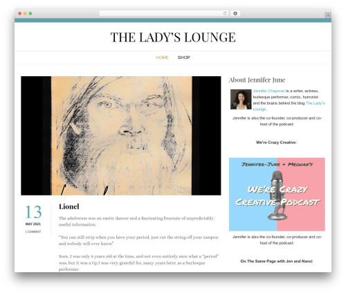 Start Blogging theme WordPress free - theladyslounge.com