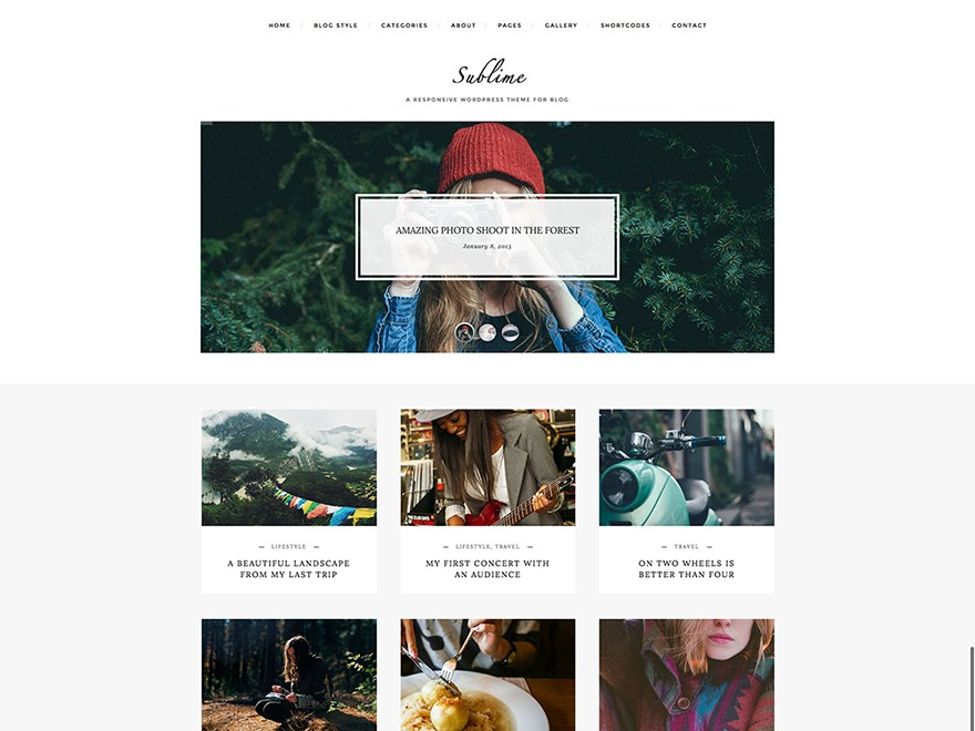 Sublime-Theme WordPress blog template
