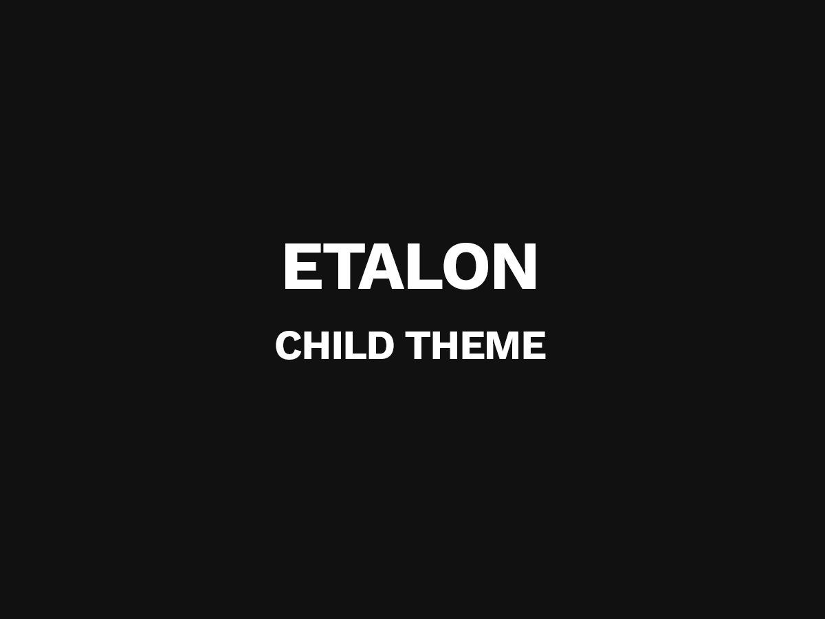 Template WordPress Etalon Child