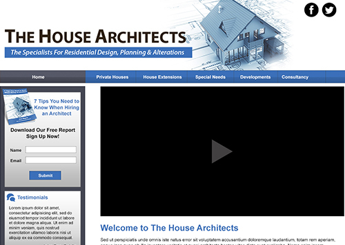 The House Architects WordPress template