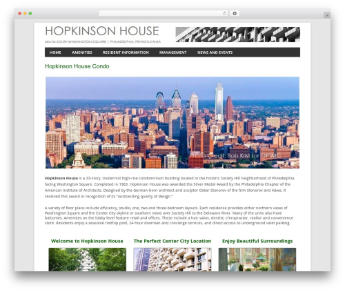Twenty Twelve WordPress theme design - thehopkinsonhouse.com