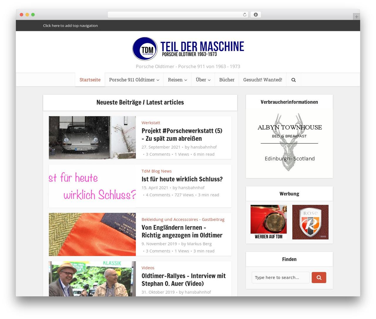 Voice WordPress blog template by meks - teil-der-maschine.de