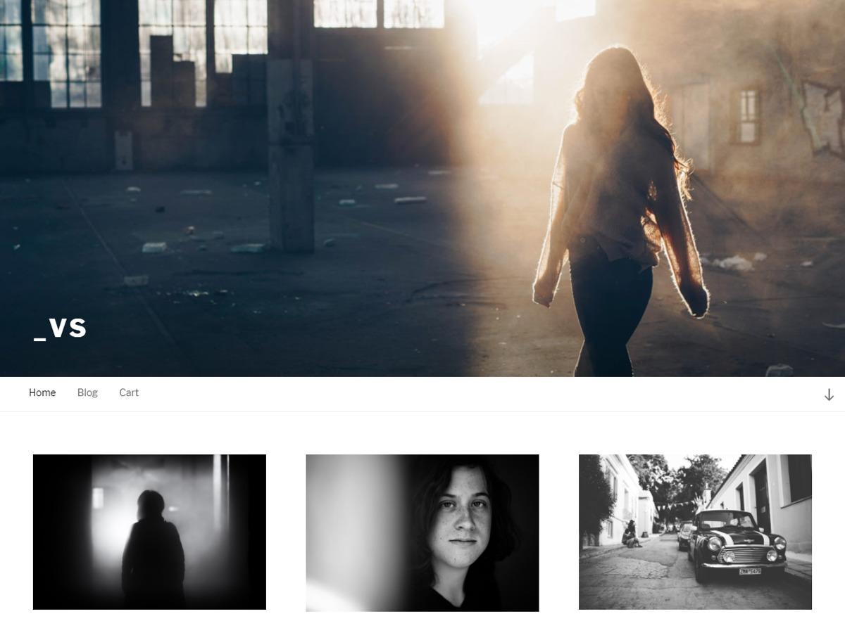 _VS WordPress template for photographers