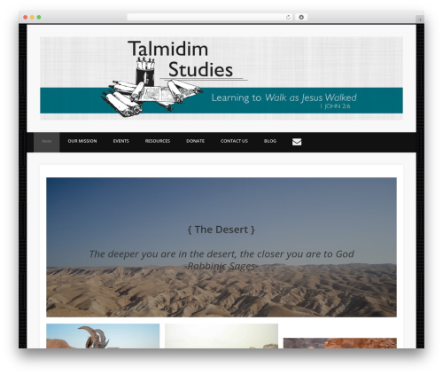 WordPress theme Pinboard - talmidimstudies.org