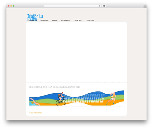 WordPress theme Revival - triatlonlapalma.es