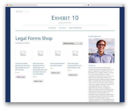 WordPress theme Elemin - exhibit10.com