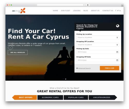 RentIt motors WordPress theme - zandxcars.com