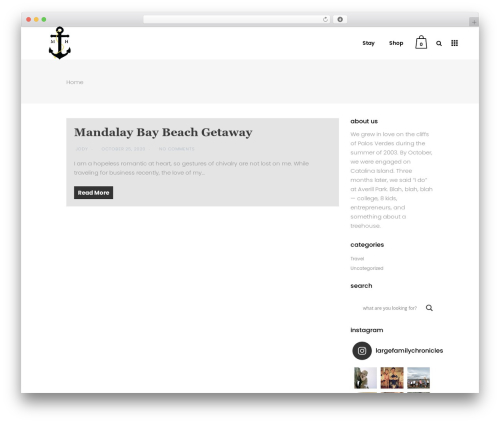 WordPress theme Bazaar - themaddenhouse.com