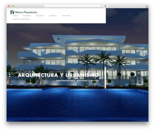 WordPress theme Domik - alberroarquitectos.com