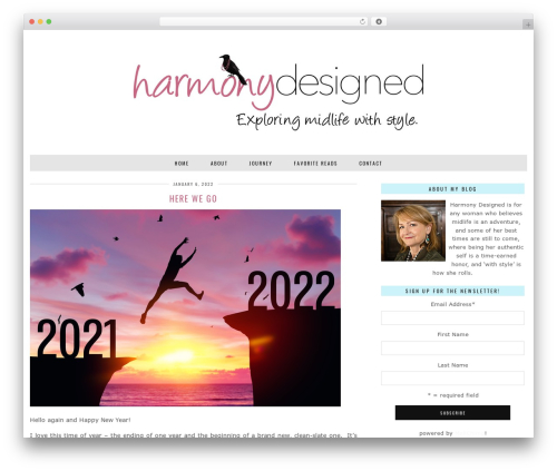 Best WordPress theme London Calling (pipdig) - harmonydesigned.com