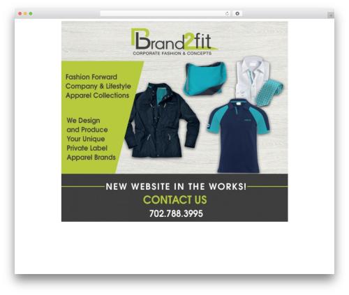 jupiter fashion WordPress theme - brand2fit.com