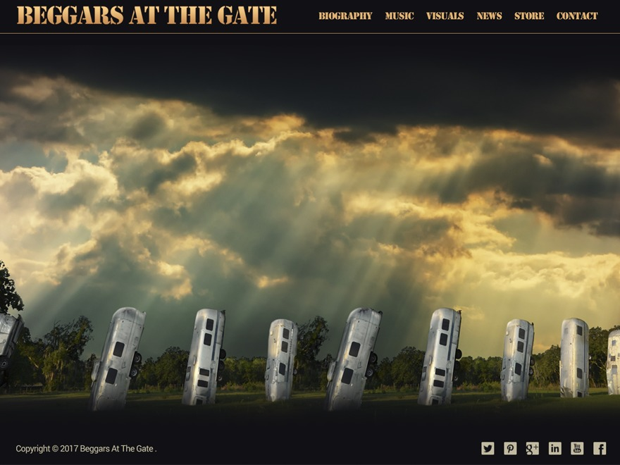 WordPress website template Beggars At The Gate