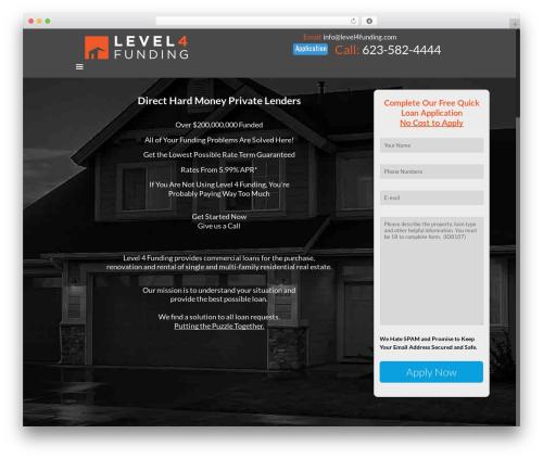 Betheme WordPress real estate - level4funding.com