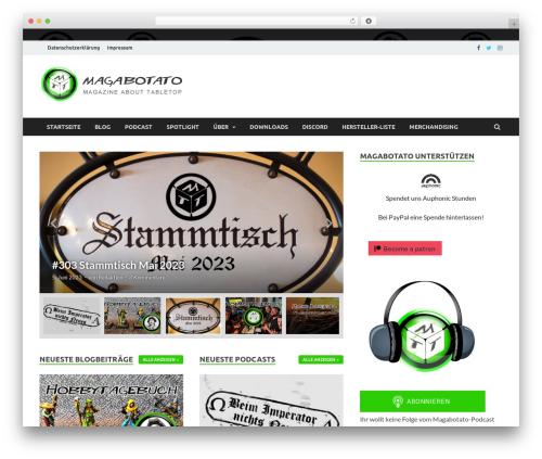 HitMag free WordPress theme - magabotato.de