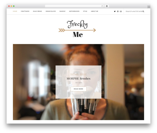 Rosemary WordPress page template - frecklyme.com