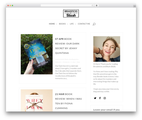 Template WordPress Bridge - breadsticksandblush.com