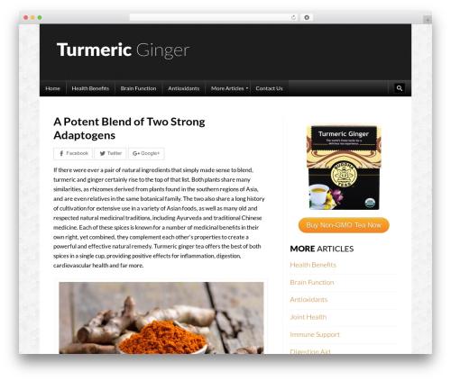 Template WordPress Sowe - turmericginger.com