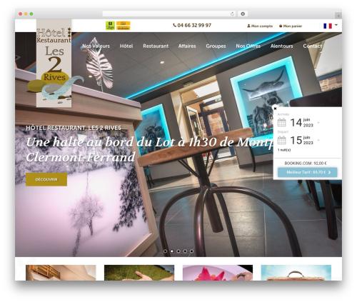 WordPress website template Theme BMS - hotel-les2rives.com