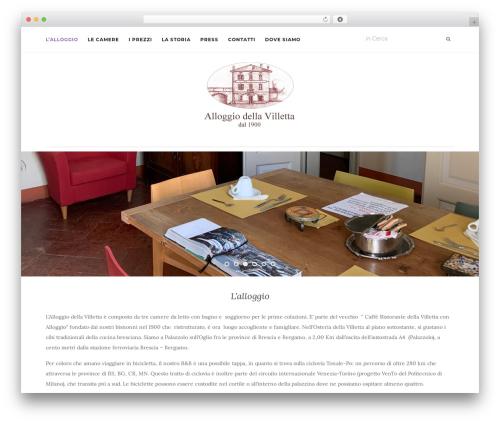 Activello free WP theme - alloggiovilletta.com