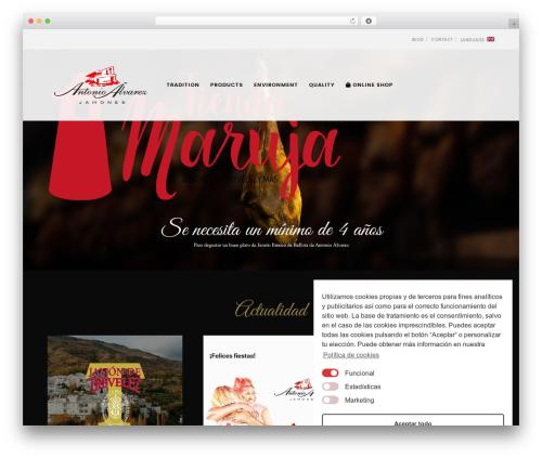 Best WordPress theme Movedo - antonioalvarezjamones.com