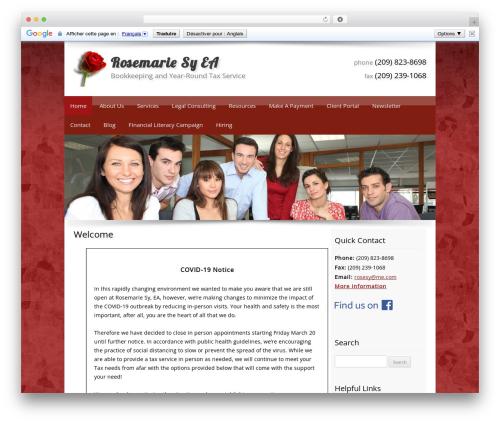 Customized best WordPress template - rosemariesy.com