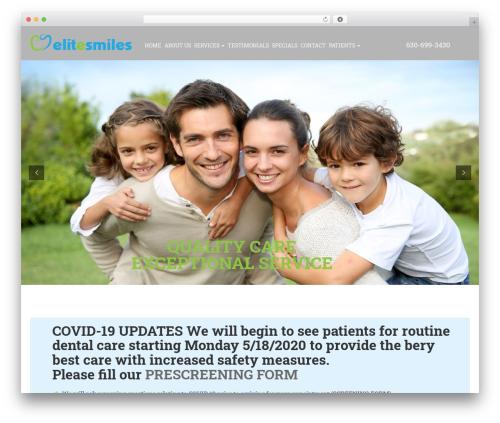 Elite template WordPress - elitesmilesdentalcare.com