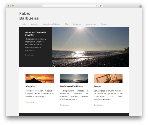 Theme WordPress Executive Pro Theme - fabiobalbuena.com