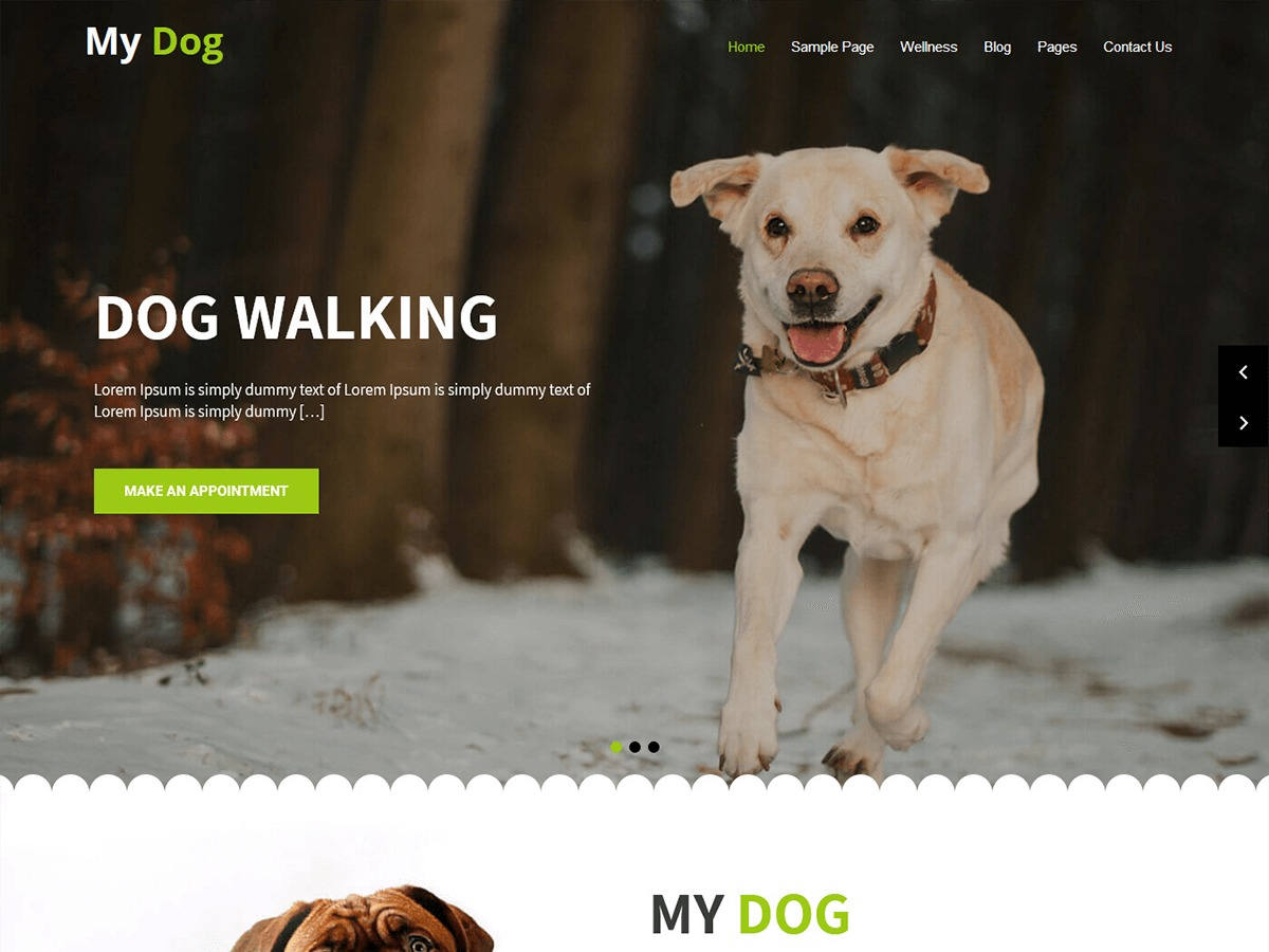 My Dog Lite WordPress ecommerce theme
