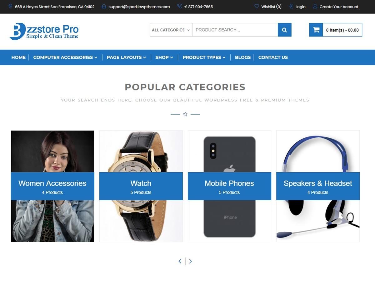Online eCommerce WordPress ecommerce theme